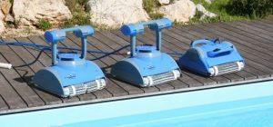 robot piscina con piastrelle